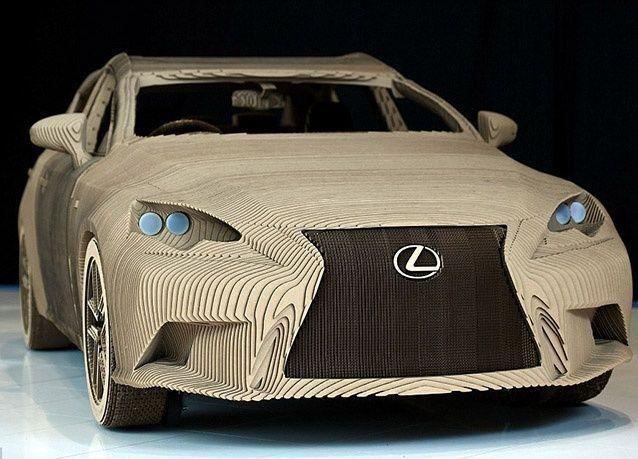 بالصور : سيارة ليكزس مصنوعة بمهارات فن الأوريغامي الياباني