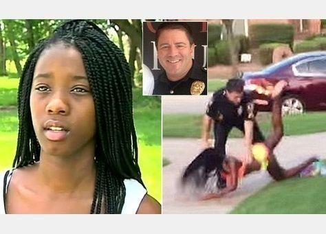 استقالة ضابط شرطة تكساس الذي ظهر في تسجيل مصور وهو يطرح فتاة أرضا