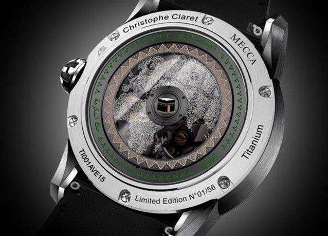 """بالصور: ساعة """" مكة المكرمة"""" في معرض الساعات بدبي"""