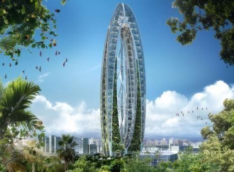 صور بيونيك آرك: ناطحة سحاب مدهشة بحدائق معلقة في تايوان
