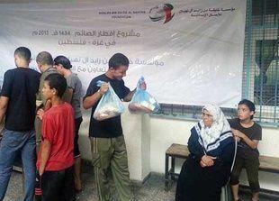 مؤسسة خليفة توزع إفطارات رمضانية في ثلاث مناطق بمدينة غزة