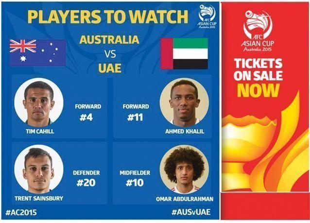 أستراليا تهزم الإمارات وتتتأهل لمواجهة كوريا الجنوبية في نهائي كأس آسيا