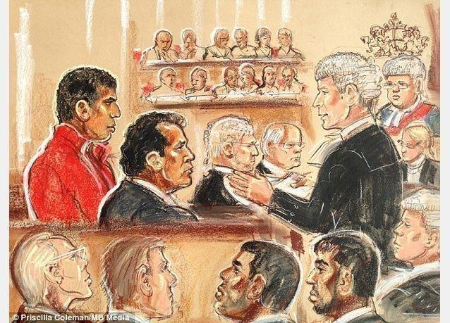 أول صورة مرسومة للمشتبه به في اعتداء وحشي على 3 إماراتيات في لندن