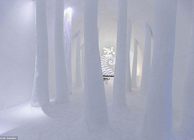 بالصور: فندق الجليد السحري في السويد