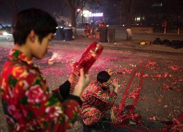 """بالصور : احتفالات برأس السنة الصينية الجديدة """"عام القرد"""""""