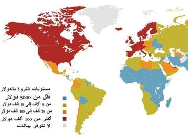 الكويت والإمارات تتصدران الدول العربية بثروات المواطنين