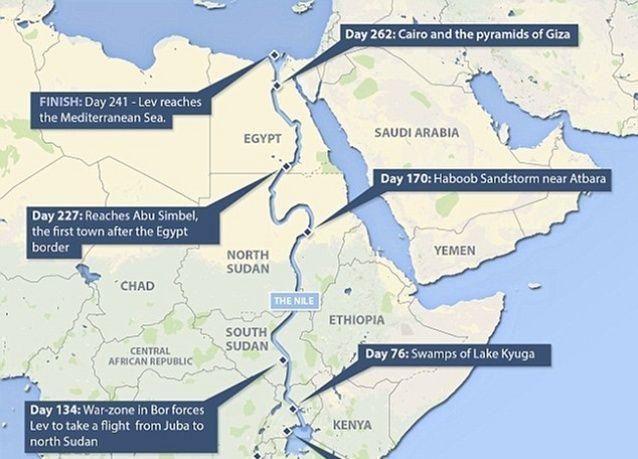بالصور: بريطاني يقطع ماشيا ضفاف نهر النيل أطول نهر في العالم