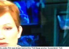 مشاهد إباحية خلال خبر عن سوريا على قناة سويدية