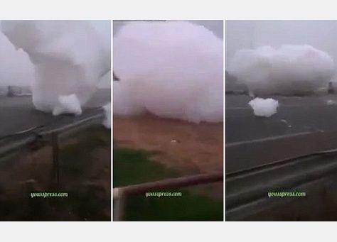 فيديو : هل سبق وشاهدت غيمة تسقط من السماء وتتدحرج على الأرض ؟