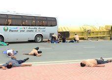 حادث حقيقي مشابه قبلها بدقائق.. شرطة دبي والدفاع المدني تنفذان تجربة وهمية مشتركة