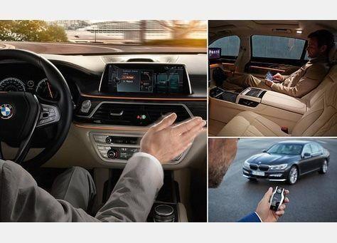 شاهد سيارة بي إم دبليو الجديدة، مثل جيمس بوند تستدعيها بجهاز التحكم من الموقف