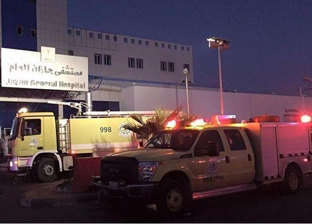 حريق مستشفى جازان العام.. يشعل تويتر