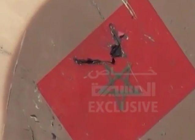 الحوثيون يبثون فيديو يقولون إنه لحطام طائرة عسكرية مغربية