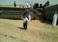 """سرقة كيابل نظام تشغيل الخط """"وراء انقلاب القطار السعودي"""" الوحيد"""