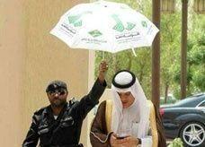 أمين العاصمة السعودية: المظلة للحارس.. سلمت عليه فتبعني