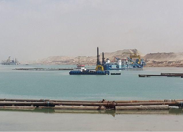 شركة الجرافات البحرية الوطنية  تنجز أعمال قناة السويس الجديدة