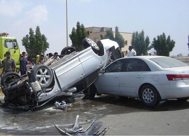 مصرع 15 سعودياً في حادث مرور عنيف