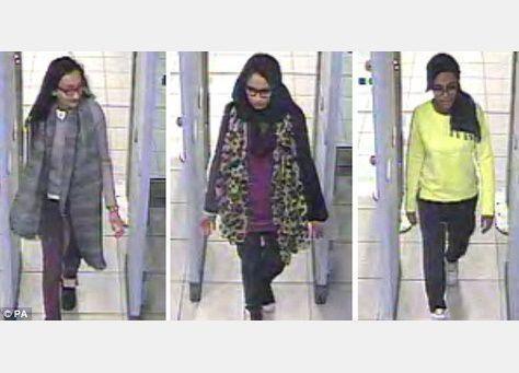 القبض على رجل من استخبارات دولة في التحالف ساعد البريطانيات الثلاث للانضمام لداعش