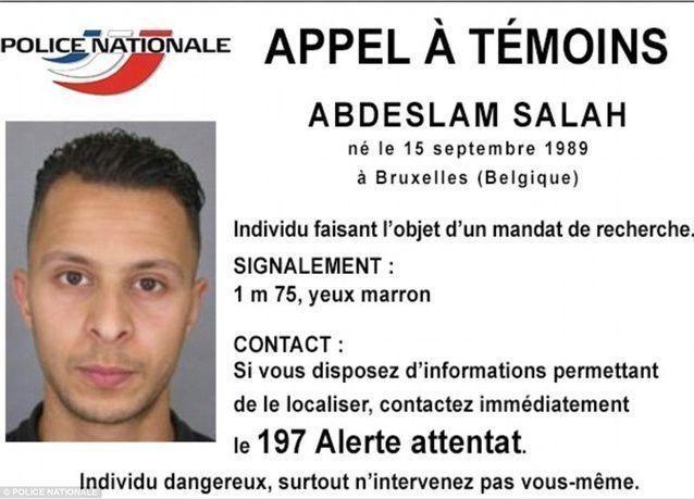 صلاح عبد السلام المطلوب في هجمات باريس لم يعتقل
