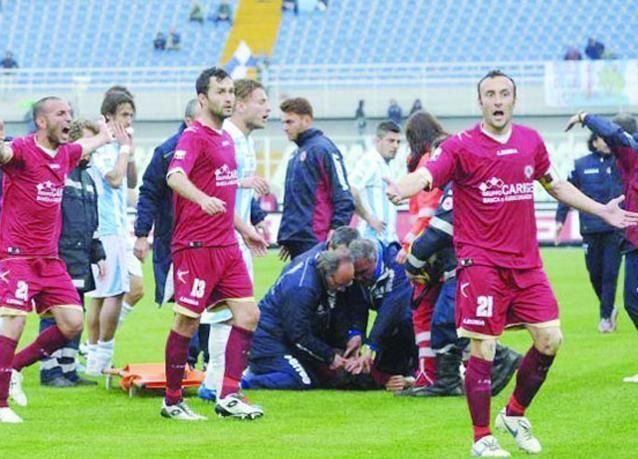 وفاة اللاعب موروسيني لاعب نادي ليفورنو أثناء مباراة بالدوري الإيطالي