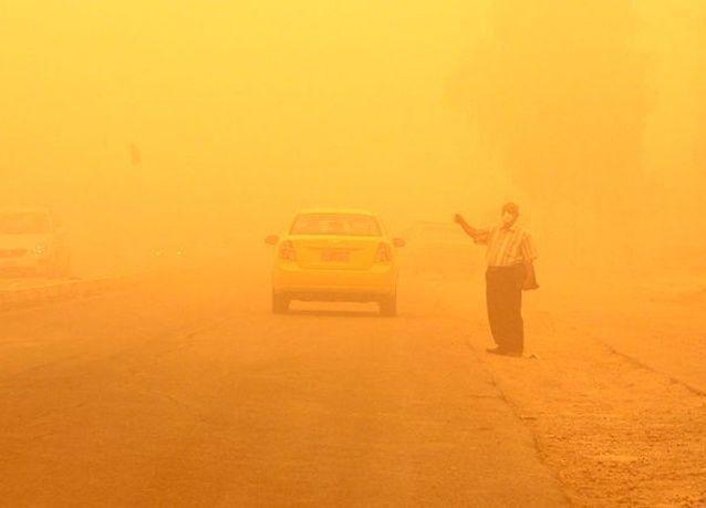 صور عاصفة رملية تضرب العراق