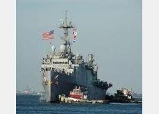 وصول سفينة حربية اميركية الى شواطئ البحرين