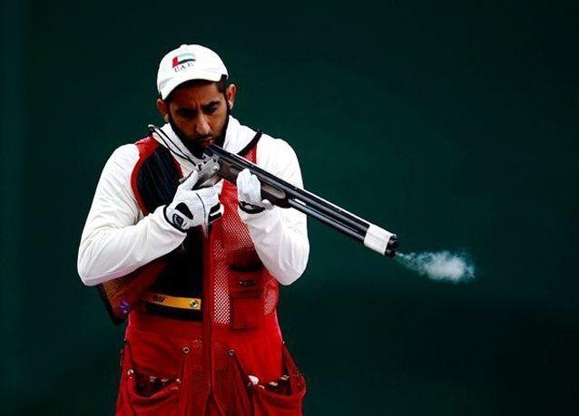 بالصور: الشيخ سعيد بن مكتوم في منافسات الرماية في أولمبياد لندن