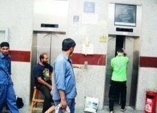 أسرة عراقية تنجو من الموت في سقوط مصعد بناية بهم في الشارقة