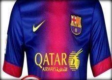 """شعار """"الخطوط القطرية"""" على قمصان برشلونة بدءا من الموسم المقبل"""