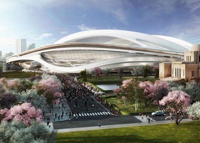 بالصور: اليابان تستعين بزها حديد لتصاميم مبنى على هيئة مركبة فضائية