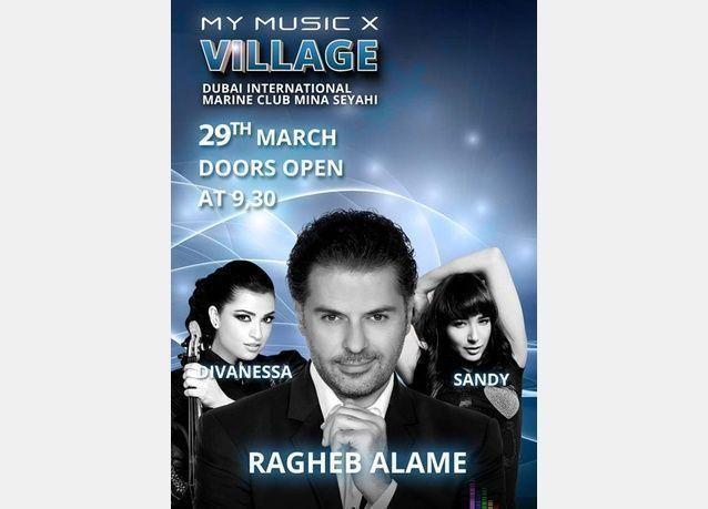 "بالصور: ساندي وراغب علامة في مهرجان ""My Music X "" في دبي"