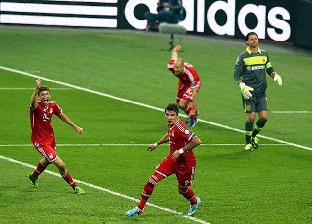 مباراة ملتهبة أنهاها بايرن ميونخ بفوزه بدوري أبطال أوروبا على مواطنه بوروسيا دورتموند