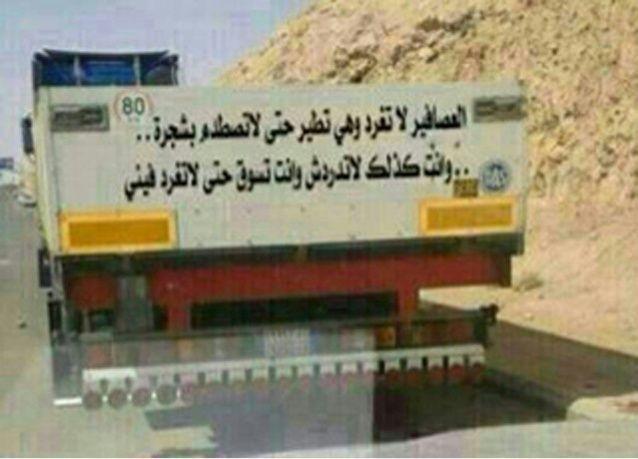 """السعودية.. سائق شاحنة: """"لا تدردش وأنت تسوق حتى لا تغرد فيني"""""""