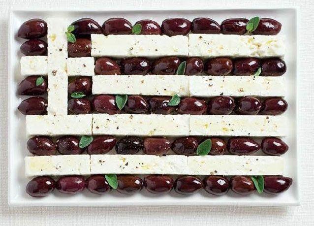 بالصور: أعلام الدول بمأكولاتها المفضلة