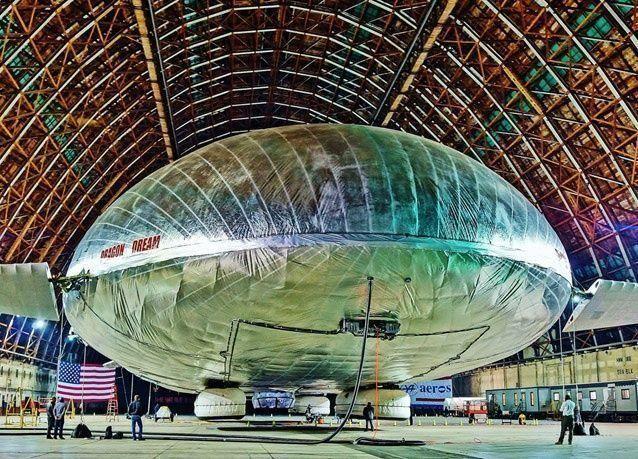 بالصور: منطاد برمائي ينافس الطائرات بكلفة منخفضة للطيران والشحن الجوي