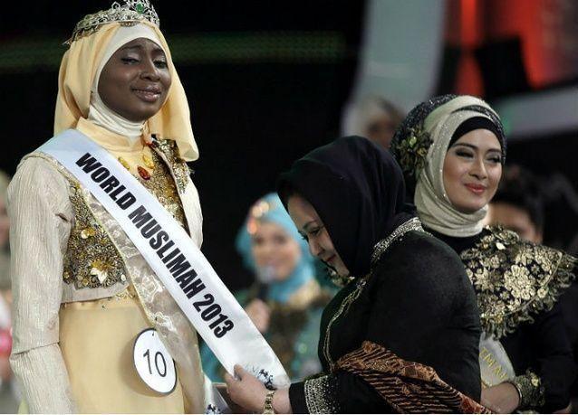 """نيجيرية تتوج """"ملكة جمال المسلمات"""" وتفوز برحلة إلى مكة"""