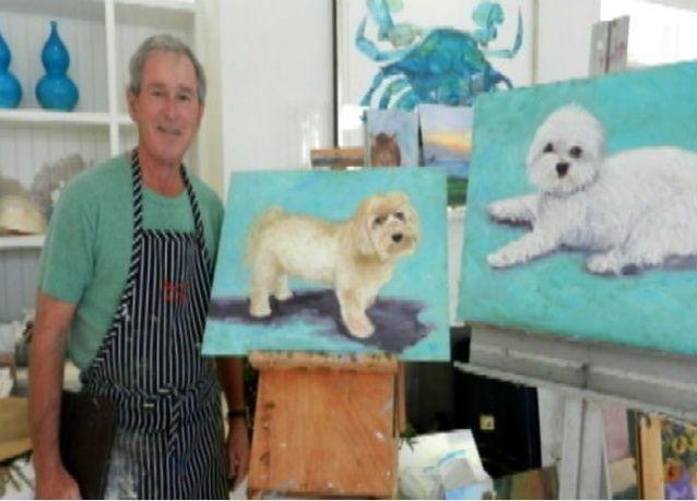جورج بوش الابن يكشف عن أعماله الفنية للمرة الأولى ابريل القادم