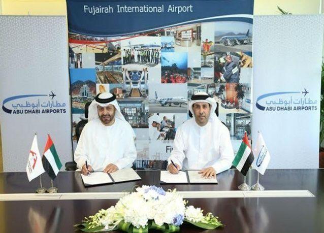 مطارات أبوظبي توقع مذكرة تعاون مع مطار الفجيرة الدولي