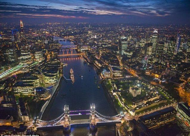 بالصور: تعّرف على  لندن من الجو بلقطات مصور جريء
