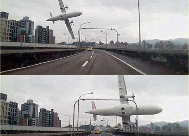 مقتل 9 في سقوط طائرة ركاب في نهر بتايوان وعلى متنها 58 شخصا