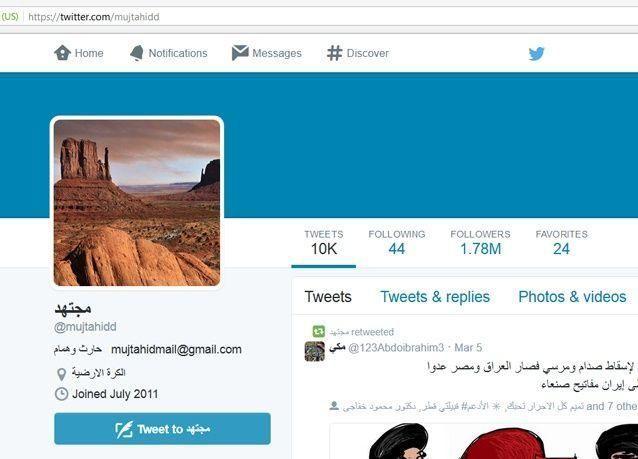 المدون السعودي مجتهد يعلن إطلاق موقع إنترنت قريبا بعد عودة حسابه على تويتر