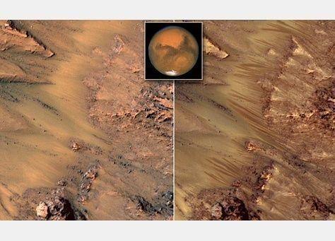 ناسا تكشف عن وجود ماء في كوكب المريخ