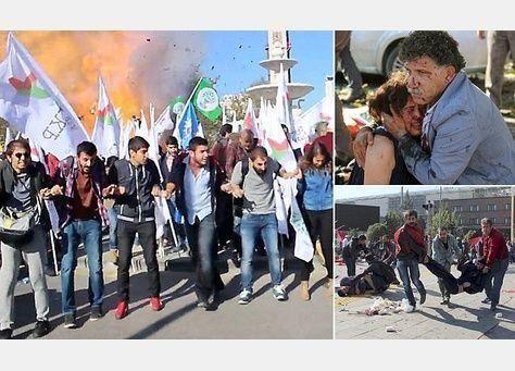128 قتيلا في انفجاري أنقرة