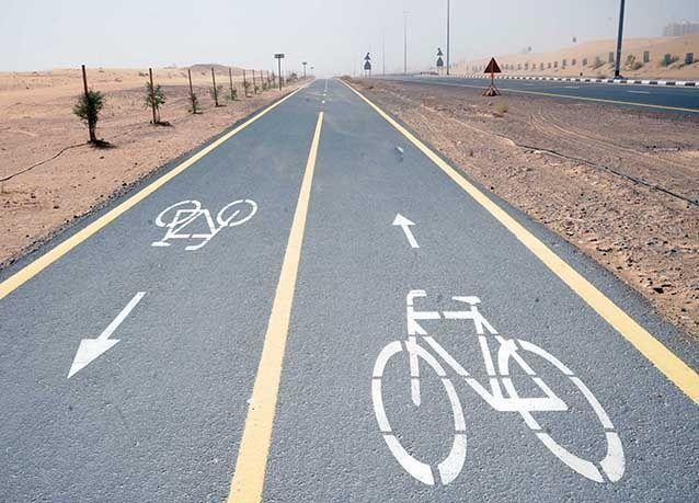 """بالصور : """"طرق دبي"""" ترسي تنفيذ مسارات للدراجات الهوائية بتكلفة 79 مليون درهم"""