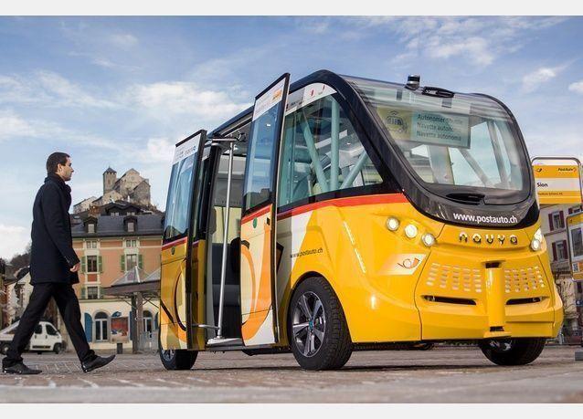 حافلات بدون سائق على الطرق السويسرية