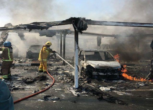 حريق في مواقف جامعة الشارقة ولا أنباء عن إصابات