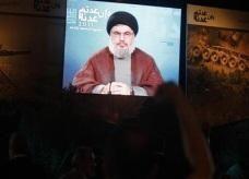 حسن نصر الله يشارك في احتجاج مناهض للولايات المتحدة في بيروت