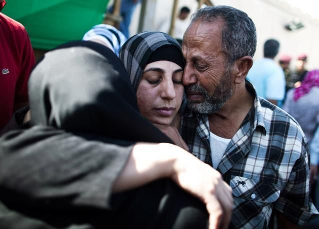 استقبال الابطال في رام الله لاسرى افرج عنهم من سجون الكيان الصهيوني