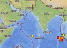 هزة ارتدادية بقوة 8.2 درجات قبالة سواحل جزيرة سومطرة