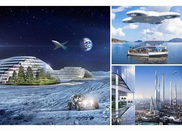 بالصور : رحلات فضائية ومدن تحت الماء .. هكذا ستبدو الحياة المستقبلية بعد 100 عام